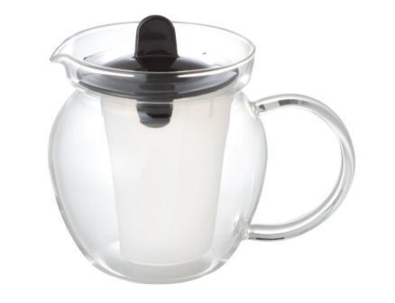 シンプルで使いやすいカタチです 茶こし付きで茶殻の後始末もカンタンです 51%OFF iwaki イワキ お茶ポット ブラック 耐熱ガラス ポット 安い セール品 激安 プチプラ 高品質 イワキガラス 急須