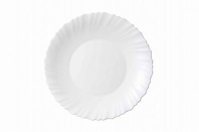 食材の色どりが映えるシンプルなホワイト縁取りが食卓に華やかさを演出してくれます。 【50%OFF】【メーカー公式】iwaki(イワキ) ファミエットシルクホワイト中皿