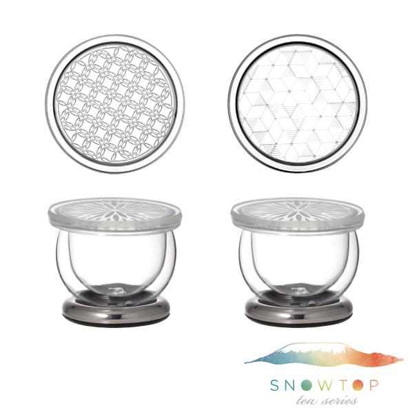【メーカー公式】SNOWTOP(iwaki)ダブルウォールマグ2個セット<プラチナ>