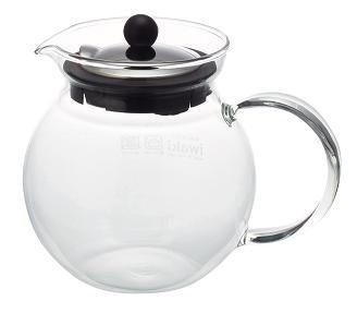 【ステンレスシリーズ】ジャンピングしやすい丸型のデザイン。フタの裏側に茶漉しがついているので茶葉をキレイに漉せます。 【在庫限り】iwaki(イワキ) ジャンピングティーポット 耐熱ガラス イワキガラス