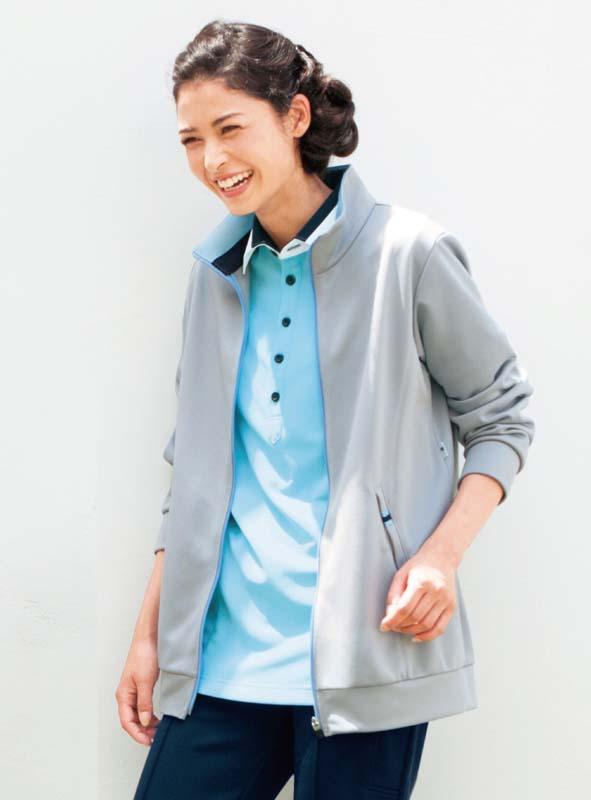 ニットジャケット 男女兼用 カーシーカシマ HM-2501 吸汗 速乾 ストレッチ ポケット付き ベージュ グレー