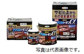 アサヒペン 油性高耐久アクリルトタンα 12KG 黒 ※お取り寄せ商品です※