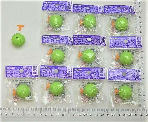 日本製 消しゴムです。魅力ある日本のおみやげコンテスト受賞。 メロン消しゴム(10個入)【まとめ買い 消しゴム 日本製 プレゼント ご褒美 おまけ 景品 おもちゃ こども 文具 ばらまき】
