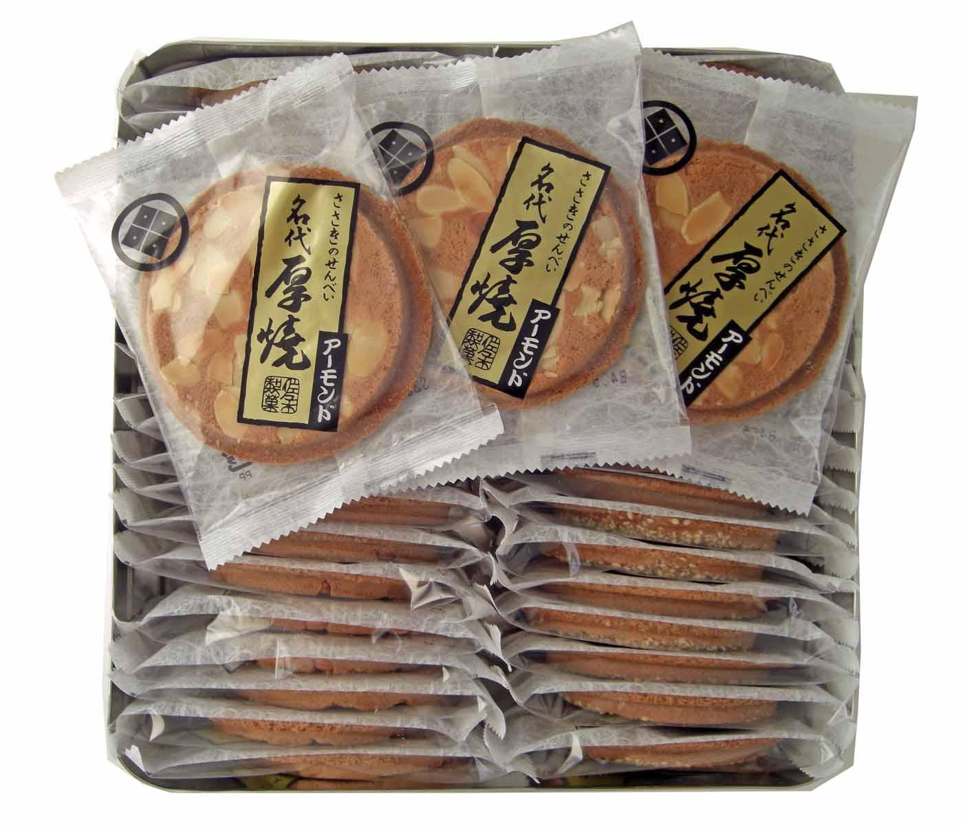 厚焼アーモンド 【40枚缶入】【ネット限定】佐々木製菓