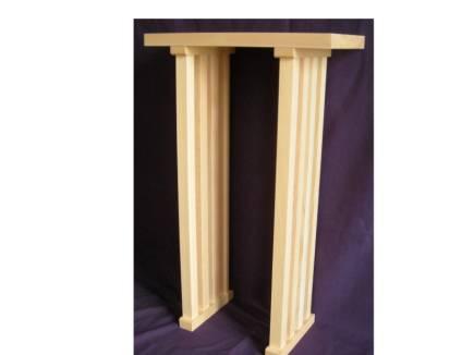 八足案 天板間口2尺奥行き7寸 総高さ2尺5寸以上(木曽ヒノキ)天板柾目【smtb-TK】
