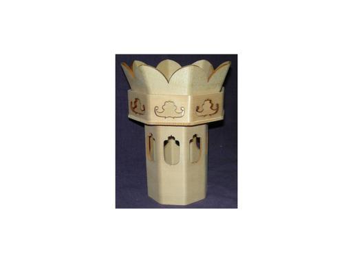 八角総透かし供華4寸法立て付 木地使い(ホワイトスプルス材)