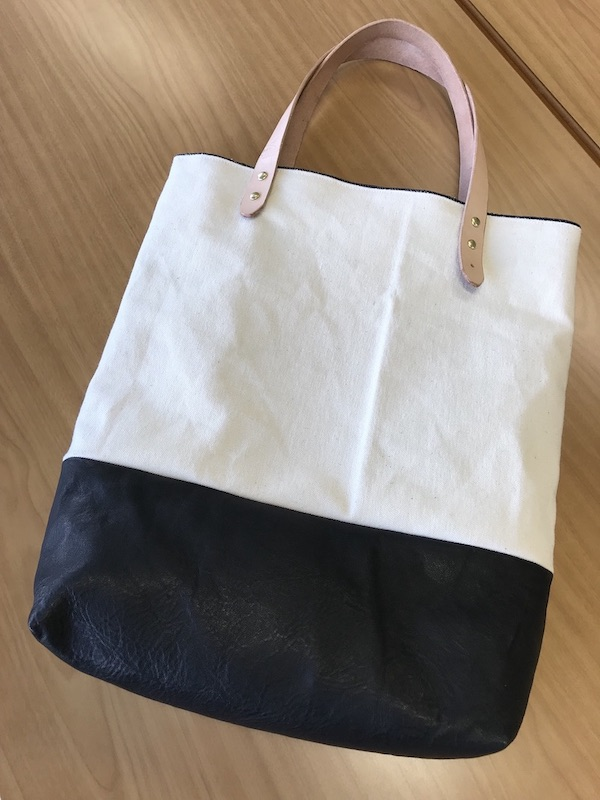 TKG leather canvas Bag -いわて短角牛レザーキャンバスバッグ-