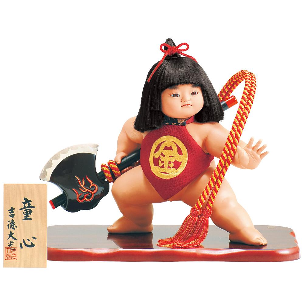 創業三百年の人形老舗 デポー 吉徳大光ブランドの五月人形 モデル着用&注目アイテム 五月人形 吉徳 ケース入り 童心 10号 金太郎 ケース飾り