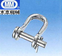 MM 水本機械 ステンレス ワリピン式 半丸シャックル 8mm RSW-8 【20個】