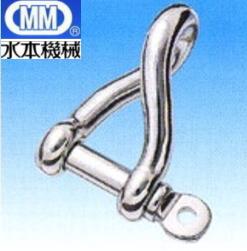 【 送料無料 】 MM 水本機械 ステンレス ヒネリシャックル 12mm SPT-12 【 10個 】[ ステンレス製 ネジシャックル 金具 金物 連結 接続 固定 吊り 落下防止 ネジ式 チェーン ワイヤー ロープ ]