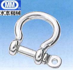 【 送料無料 】 MM 水本機械 ステンレス オタフクシャックル (アンカーシャックル) 16mm BS-16 【5個】