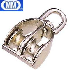 【 送料無料 】 水本機械 ステンレス 豆ブロック 2車 MB-25W 【5個】 [ MM 金具滑車 ブロック ]