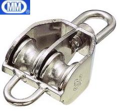 MM 水本機械 ステンレス 豆ブロック ベケット付 2車 MBK-38W 【3個】