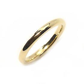 K18(ゴールド)・地金 甲丸ピンキーリング(指輪)【メール便対応】【送料無料】【代引き不可】