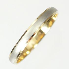 【送料無料】プラチナ・K18 コンビペアリング(指輪)【smtb-m】