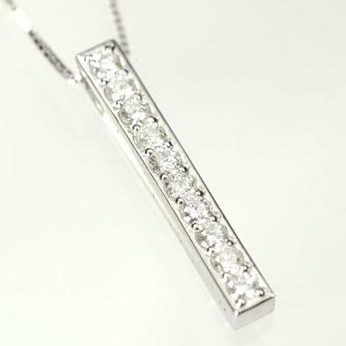 天然ダイヤモンド 送料無料 ダイヤモンドペンダント K18WG ネックレス smtb-m 国内在庫 代引き不可 アニバーサリー10ペンダント ダイヤ0.33ct