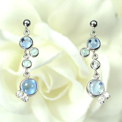 K14WG-CZ &SBT &BQZ water drop earrings