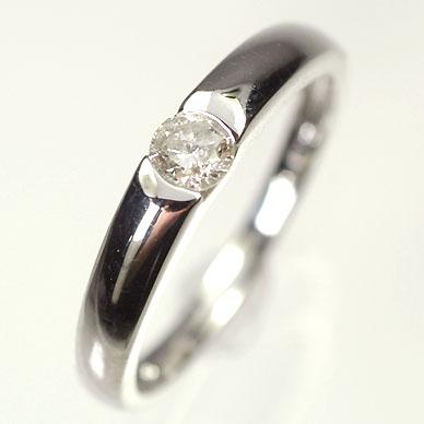 送料無料ダイヤモンドリング K18WG・ダイヤモンド0 2ct シンプルリング 指輪smtb mKJ1cuTlF3