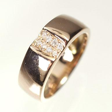 【送料無料】【ダイヤモンドリング】【ピンクゴールドリング】K18PG・ダイヤモンド0.05ct ピンキーリング(指輪)【smtb-m】