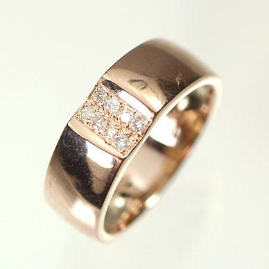 【送料無料】【ダイヤモンドリング】【ピンクゴールドリング】K10PG・ダイヤモンド0.05ct ピンキーリング(指輪)【smtb-m】
