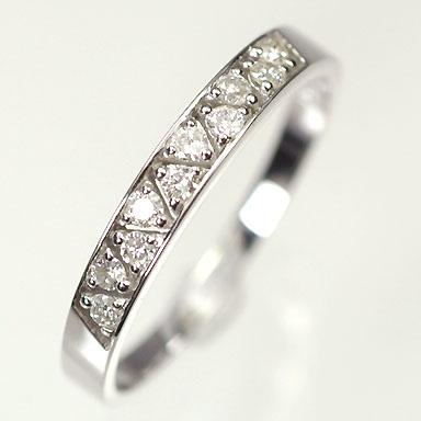 【送料無料】【ダイヤモンドリング】K18WG・ダイヤモンド0.12ct アニバーサリー10リング(指輪)【smtb-m】