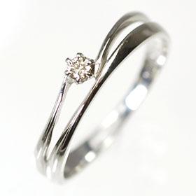 【送料無料】【ダイヤモンドリング】K10WG・ブラウンダイヤ0.05ct エレガントリング(指輪)【smtb-m】