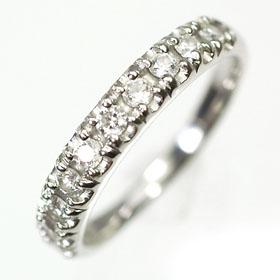 【送料無料】【ダイヤモンドリング】K18WG・ダイヤモンド0.50ct エタニティーリング(指輪)【smtb-m】