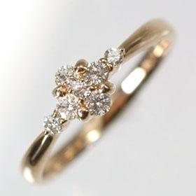 【送料無料】【ダイヤモンドリング】【ピンクゴールドリング】K18PG・ダイヤ0.21ct デザインリング(指輪)【smtb-m】