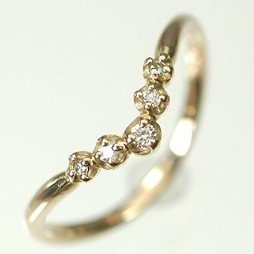 【送料無料】【ダイヤモンドリング】【ピンクゴールドリング】K18PG・ダイヤモンド0.07ct エレガンスリング(指輪)【smtb-m】