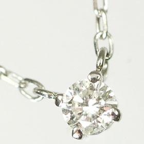 【送料無料】【ダイヤモンドペンダント】K18WG・ダイヤ0.1ct スタッドペンダント(ネックレス)【smtb-m】