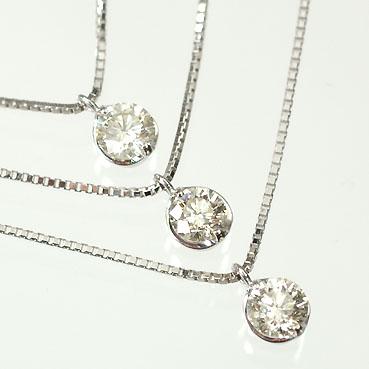 年末年始大決算 天然ダイヤモンド 送料無料 ダイヤモンドペンダント K18WG ダイヤモンド1.0ct SIクラス 3ストーン3連ペンダント ネックレス 鑑別書カード付 smtb-m 贈答品