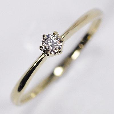 婚約指輪 K10 イエローゴールド ダイヤモンド0.1ct 新着 SIクラス 鑑別書カード付 ダイヤモンドリング 期間限定 ソリティアリング プロポーズリング エンゲージリング 希少 送料無料