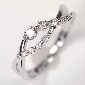 【送料無料】【ダイヤモンドリング】K18WG・ダイヤ0.3ct(SIクラス・鑑別書カード付) アニバーサリー10リング (指輪)【結婚10周年】☆ 送料無料 ダイヤモンド指輪 割引 半額以下 ☆
