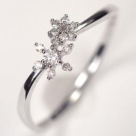 【送料無料】【ダイヤモンドリング】K18WG・ダイヤ0.1ct アニバーサリー10リング (指輪)【結婚10周年】☆ 送料無料 ダイヤモンド指輪 割引 半額以下 ☆