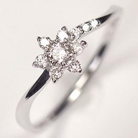 【送料無料】【ダイヤモンドリング】K18WG・ダイヤ0.2ct(SIクラス・鑑別書カード付) アニバーサリー10リング(指輪)【結婚10周年】☆ 送料無料 ダイヤモンド指輪 割引 半額以下 ☆