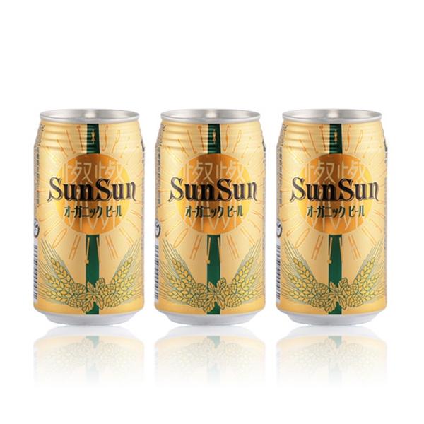 サンサン オーガニックビール 350ml(24本入)×3ケース ヤッホーブルーイング(長野)クラフトビール【※一部地域は除く】