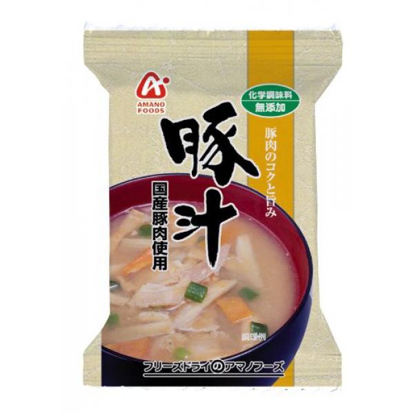 アサヒグループ食品(アマノフーズ 化学調味料無添加 豚汁 ×120個×4ケース (480個) 食品【送料無料※一部地域は除く】