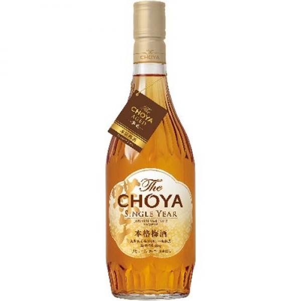 チョーヤ梅酒 配送員設置送料無料 The CHOYA 人気海外一番 SINGLE YEAR 個 ×1本 720ml スピリッツ リキュール