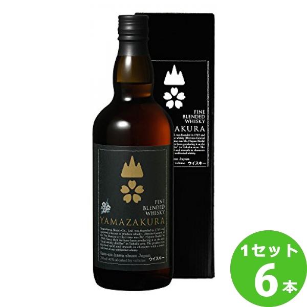 笹の川酒造(福島) 笹の川山桜黒ラベル箱入 山形県700ml×6本(個) ウイスキー
