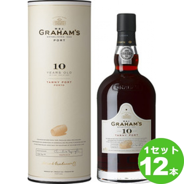 アサヒ グラハム・トゥニー 10年GRAHAM 赤ワイン ポルトガル ポート750ml×12本 ワイン【送料無料※一部地域は除く】【取り寄せ品 メーカー在庫次第となります】