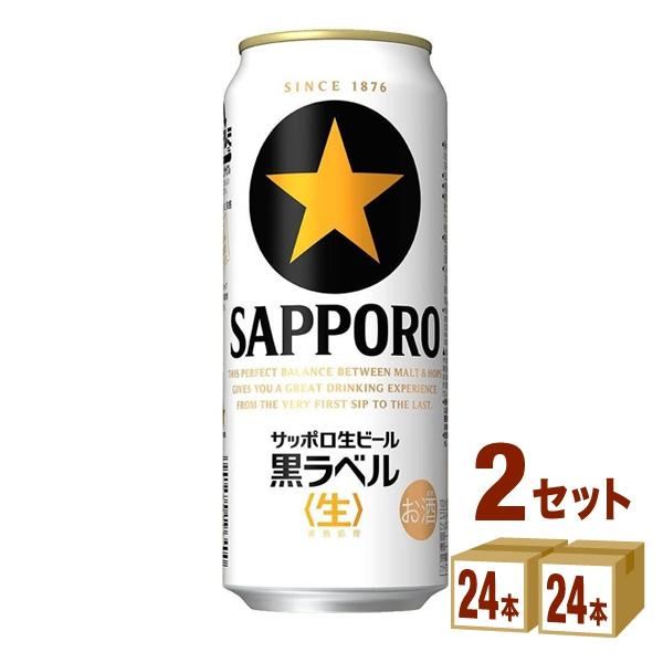 サッポロ 生ビール黒ラベル 500ml ×24本×2ケース ビール【送料無料※一部地域は除く】