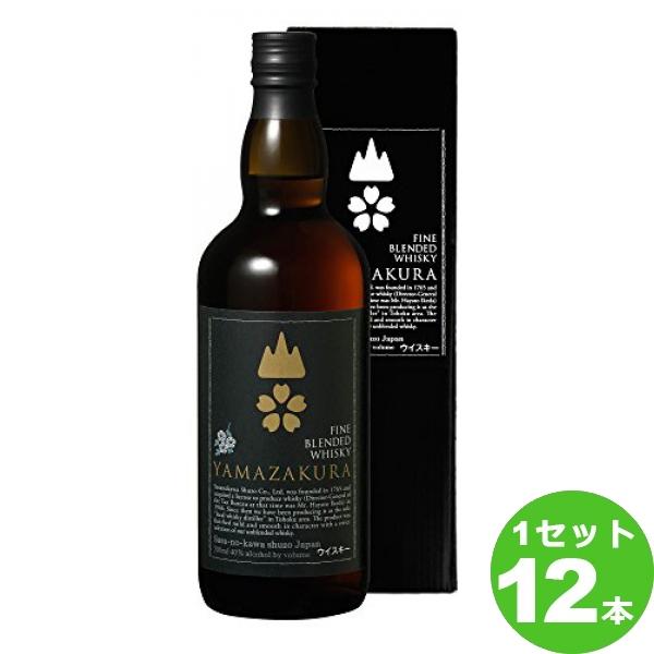 笹の川酒造(福島) 笹の川山桜黒ラベル箱入 山形県700 ×12本(個) ウイスキー