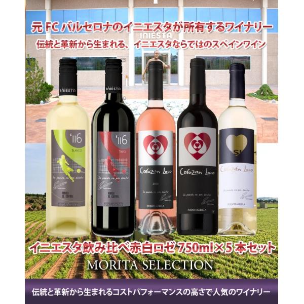 日本リカー ボデガ・イニエスタ イニエスタ コラソン・ロコ ティント 赤ワイン スペイン750ml×5本 ワイン
