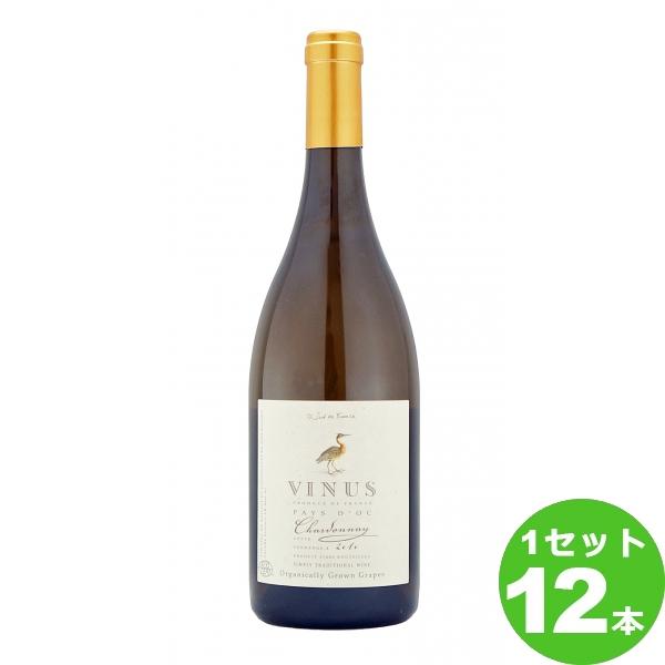 スマイル ヴィニウス オーガニック シャルドネ Vinus Organic Chardonnay 定番 オーガニック 750ml ×12本 フランス/ラングドック・ルーション ワイン【送料無料※一部地域は除く】【取り寄せ品 メーカー在庫次第となります】