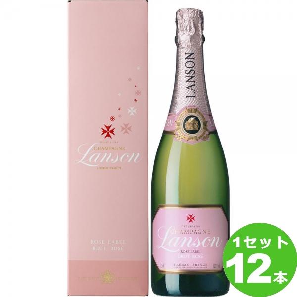 [ママ割5倍]アサヒ ランソン・ロゼラベル・ブリュット スパークリングワイン フランス/シャンパーニュ750 ml×12本(個) ワイン