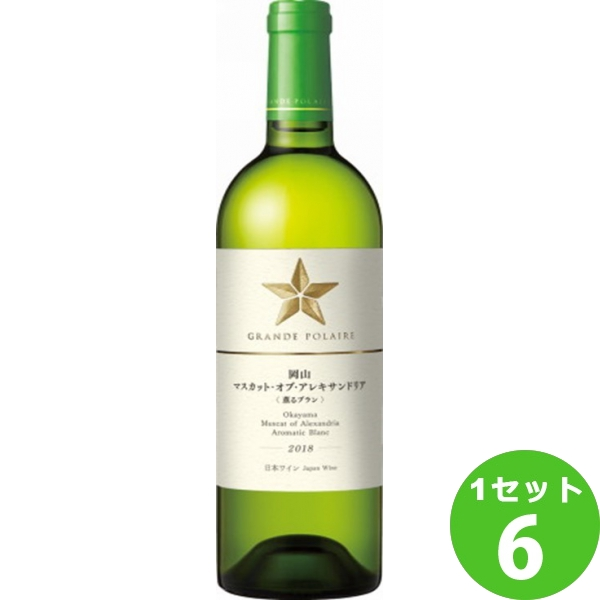 サッポロ グランポレール 岡山マスカット・オブ・アレキサンドリア〈薫るブラン〉2017 白ワイン 750ml×6本(個) ワイン