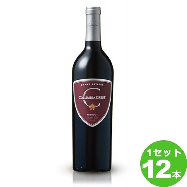 コロンビア・クレスト・ワイナリ-グランド・エステーツ・メルローGrandEstatesMerlot定番 750 ml ×12本 アメリカ  サッポロビール ワイン【送料無料※一部地域は除く】【取り寄せ品 メーカー在庫次第となります】