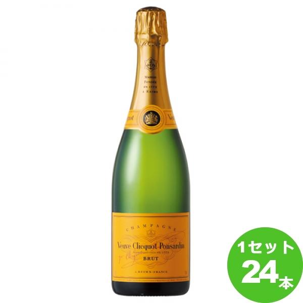 [ママ割5倍]MHDモエヘネシー ヴーヴクリコ・イエローラベル スパークリングワイン フランス/シャンパーニュ 750ml×24本(個)