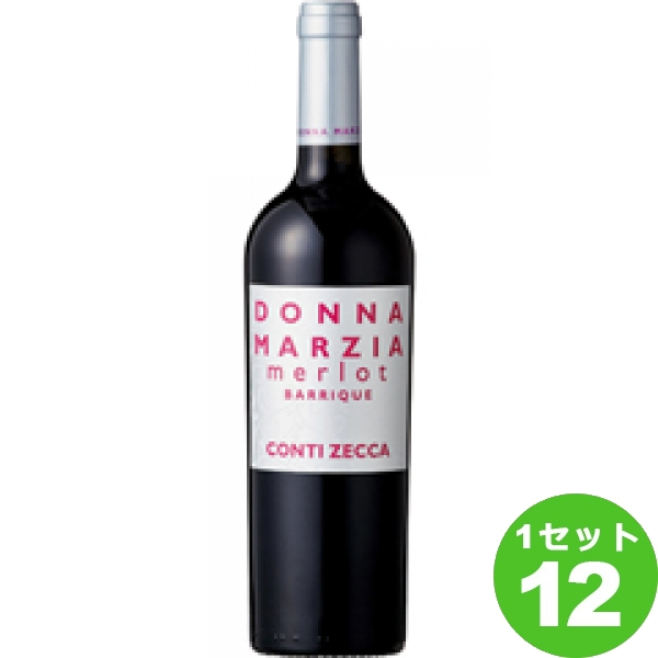 DonnaMarziaMerlotBarriqueドンナ マルツィアメルローオーク樽熟成 750ml ×12本 イタリア/プーリア/サレント/ ワイン【送料無料※一部地域は除く】