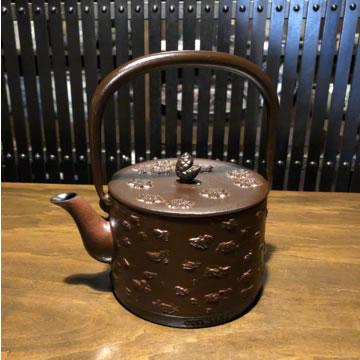 南部鉄器 鉄瓶 桜皮寸胴 1L